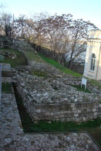 Russe-Sexaginta Prista, fortress, northwestern curtain wall of the Late Roman fortifications (D. Dragoev)