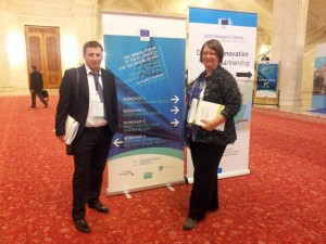 Ciprian Sandu and Sonja JilekCiprian Sandu and Sonja Jilek at the 2nd Annual Forum of the EU Strategy for the Danube Region Bukarest