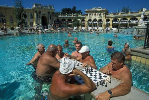Social life with chess-players in Szechenyi Thermal Spa Budapest/HU (copyright: Rokitansky)